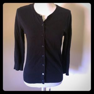 Navy 3/4 sleeve Loft cardigan